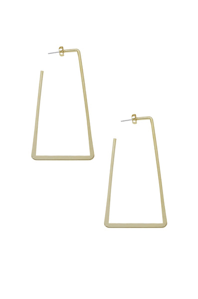 This Is It Rectangle Hoop Gold Earrings