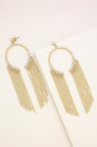 Marietta Statement Earrings in Gold