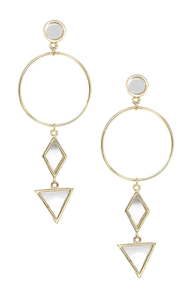 Divine Shapes Earrings in Gold
