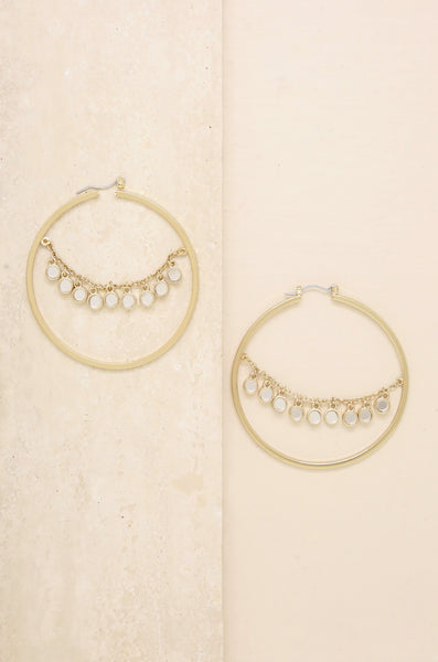 Charming Hoops in Gold