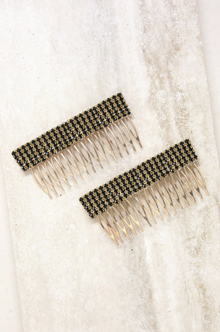 Dynasty Hair Comb Set in Black