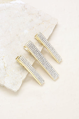 Champagne Room Crystal Clip Set