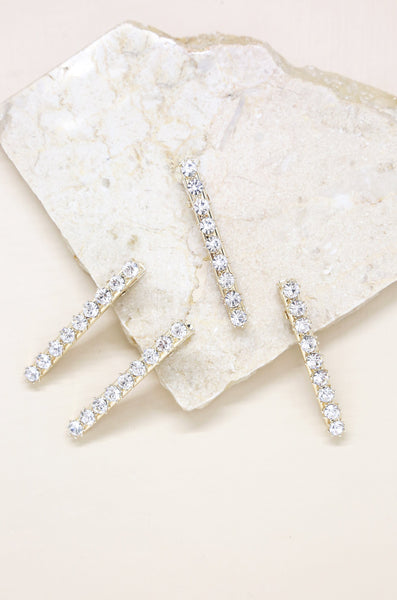 Brittany Crystal Clip Set