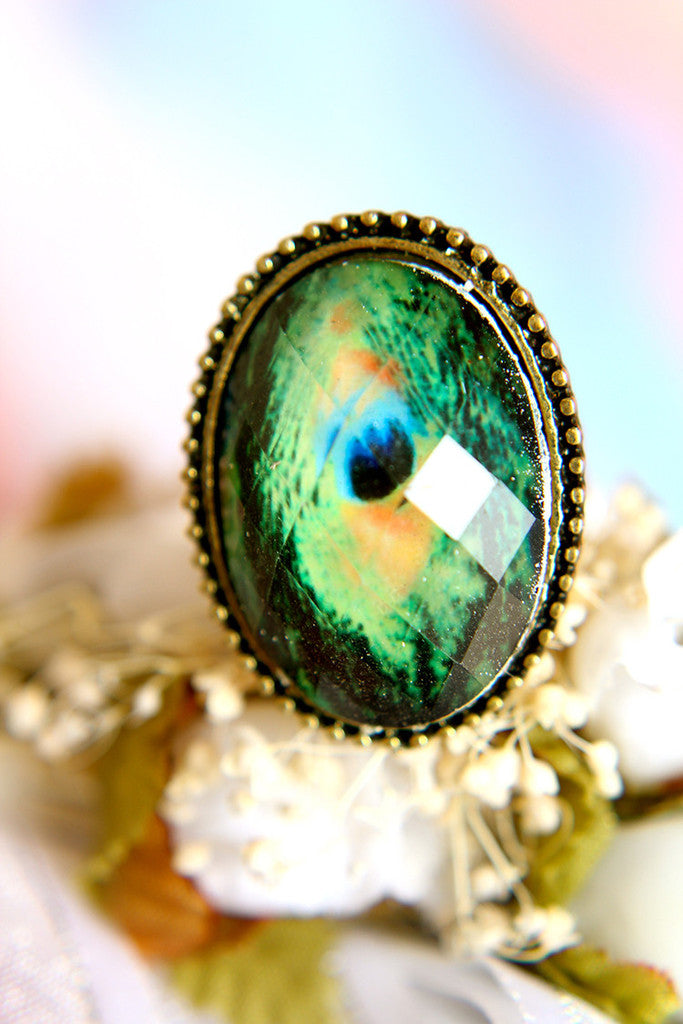 Peacock Gem Ring