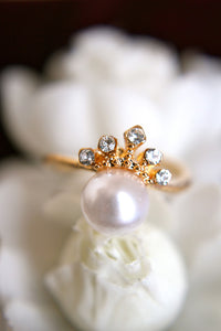 Delicate Crown and Pearl
