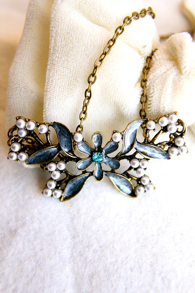 Blue Wings and Pearls