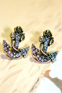 Anchored in Time Earring