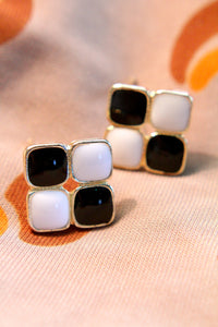 The Black and White Enigma Earrings