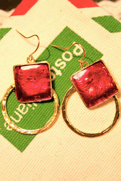 Red as Scarlet Earring