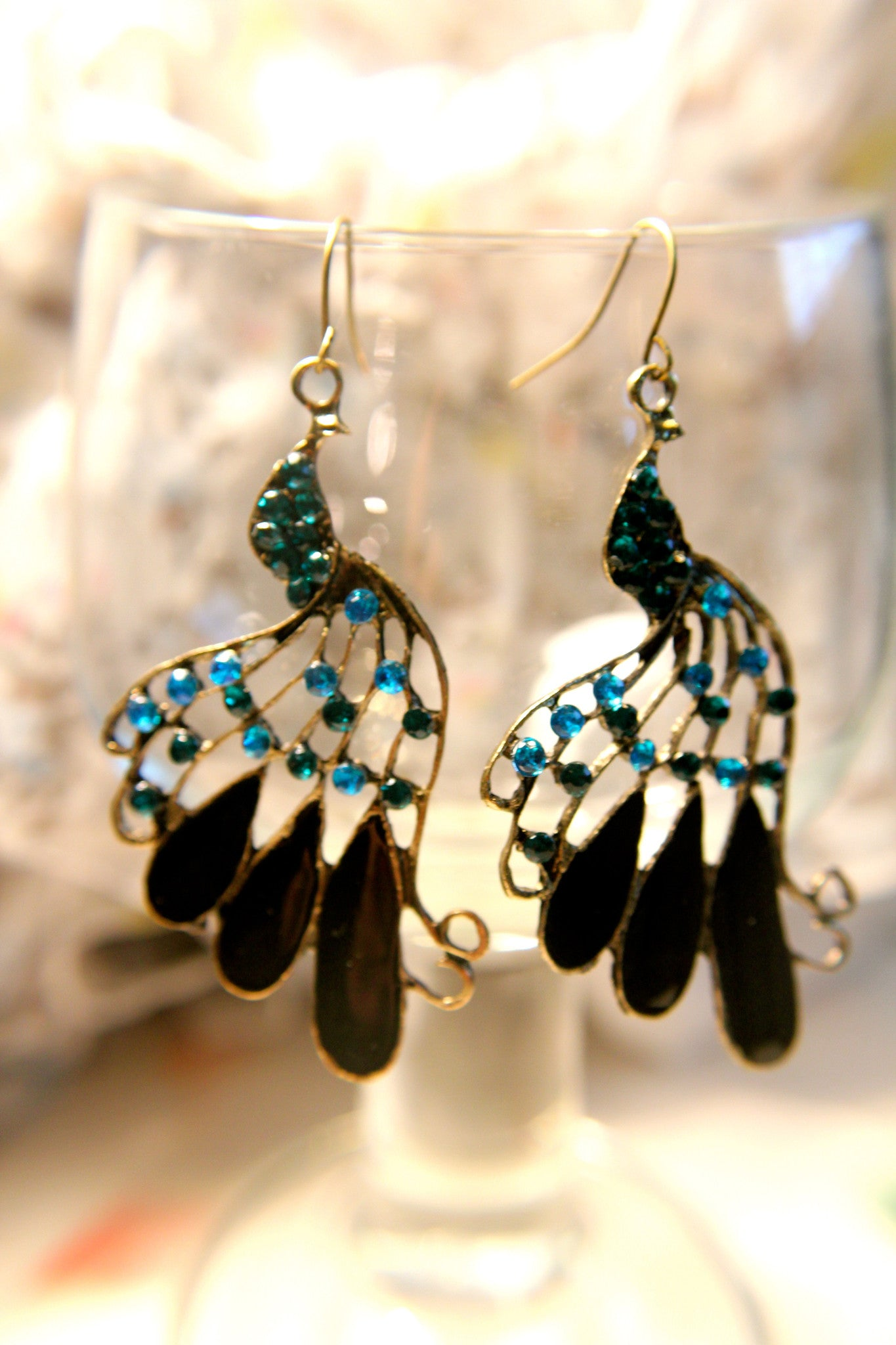Polished Peacock Earrings