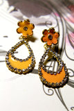 Flower Dewdrop Earrings