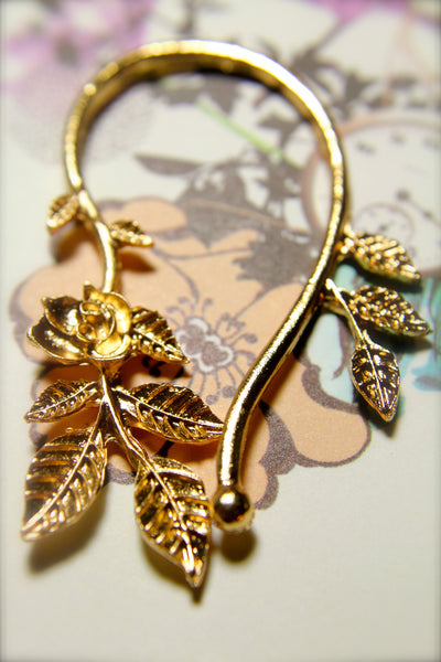 Rose Vine Earring Cuff