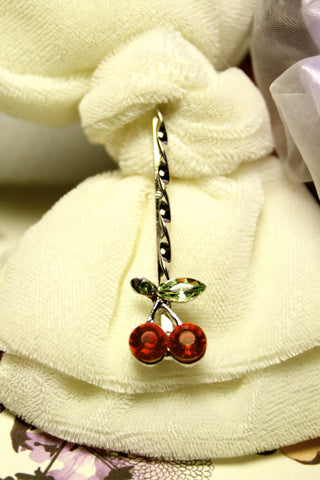Delightful Cherry Hairpin