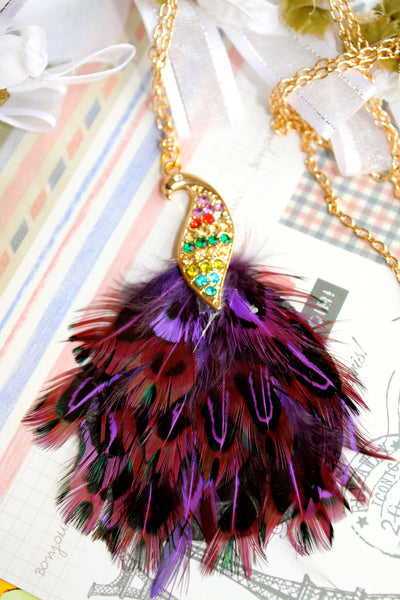 Tuft of the Peacock Necklace