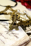 Eiffel Tower and Love Charms Necklace