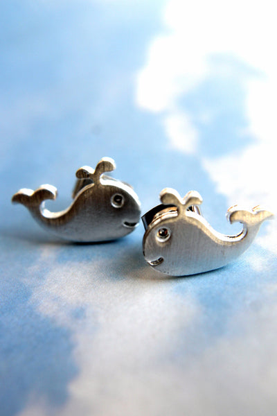 Toby the Whale Earrings