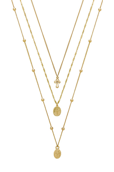 Let's Go Layers Necklace in Gold