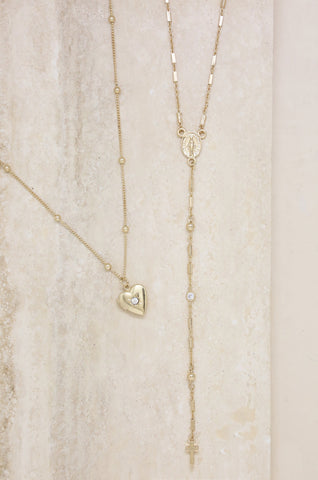 Precious Keepsake Necklace Set in Gold