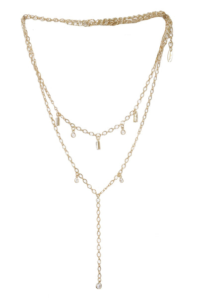 VIP Crystal Layering Necklace Set