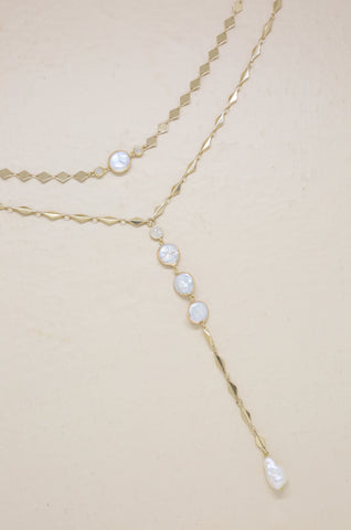Summer Dreamin' Freshwater Pearl & Gold Necklace