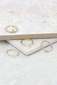 Last Lover Ring Set in Gold