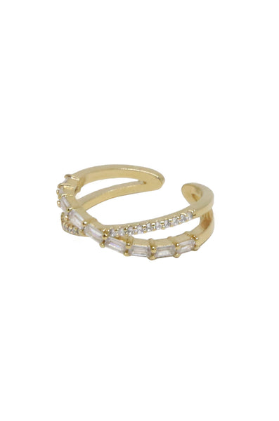 Everyday Chic 18kt Gold Plated & Crystal Ring