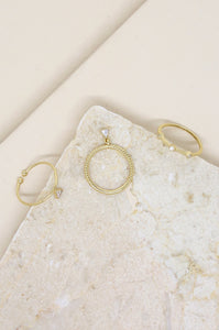Geometric Dainty Ring Set of 3 in Gold with