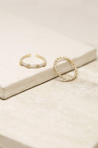 Dainty Shine Ring Set