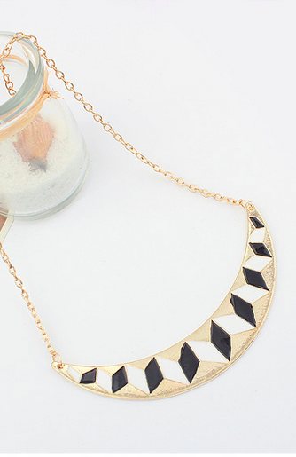 Cubic Warp Statement Necklace