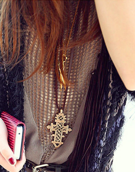 Punk Cross Necklace