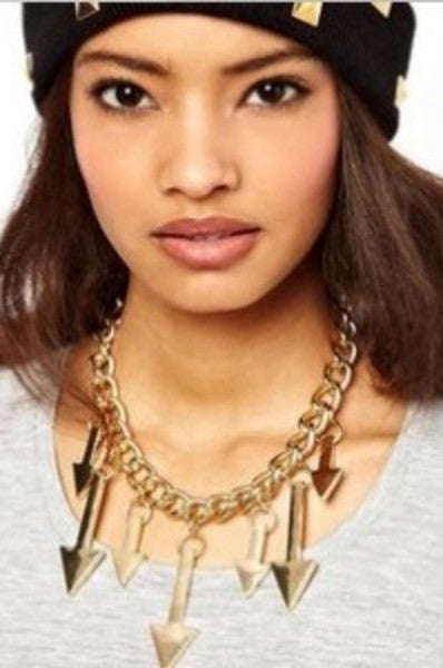 Arrows Galore Statement Necklace