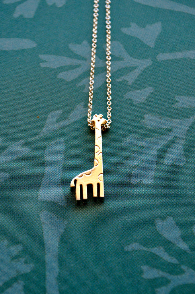 mini necklaces necklace asimi silver giraffe