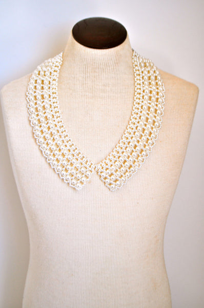 Girl with the Pearls Bib Collar