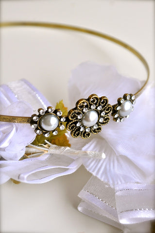 Flowers and Charm Headband
