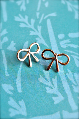 A Silver Lining Bow Earrings