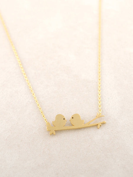 Perched Love Birds Necklace