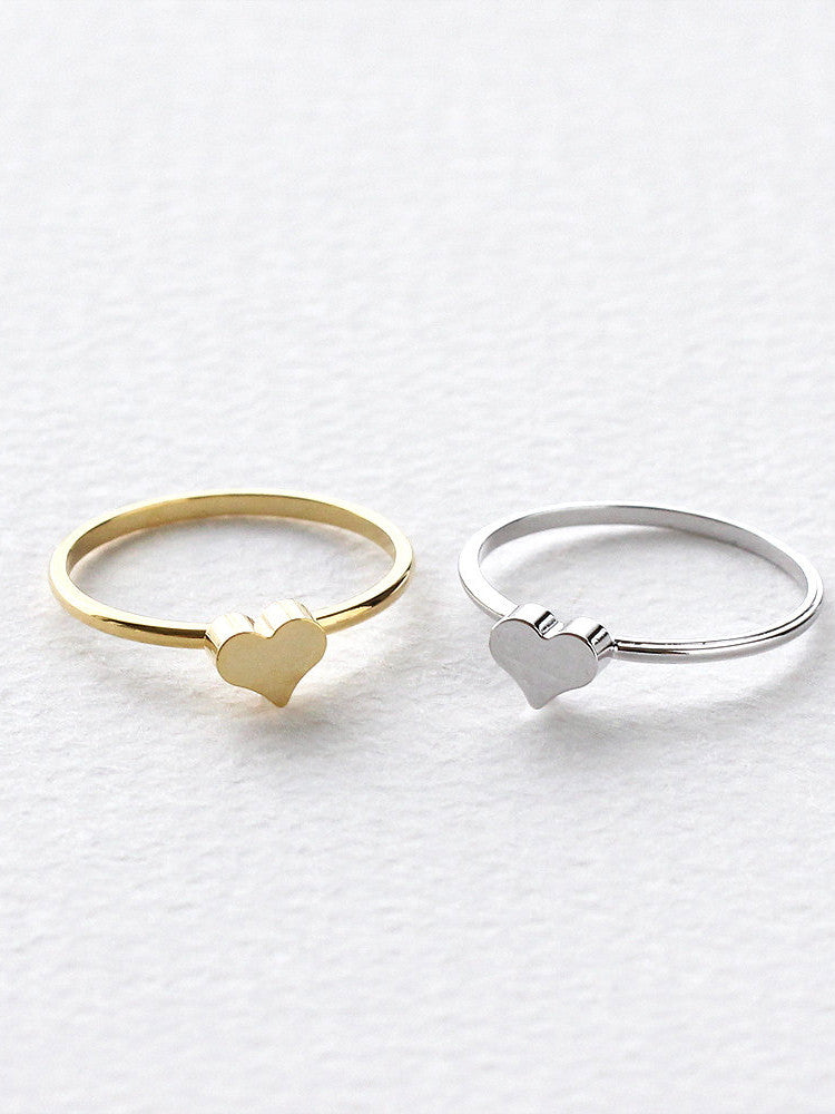 Midi Knuckle Heart Ring