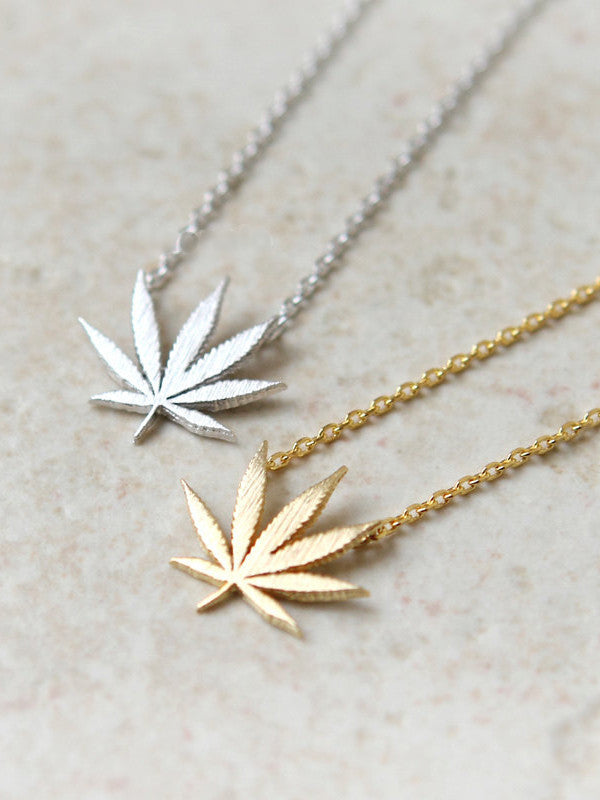 Marijuana Pot Necklace