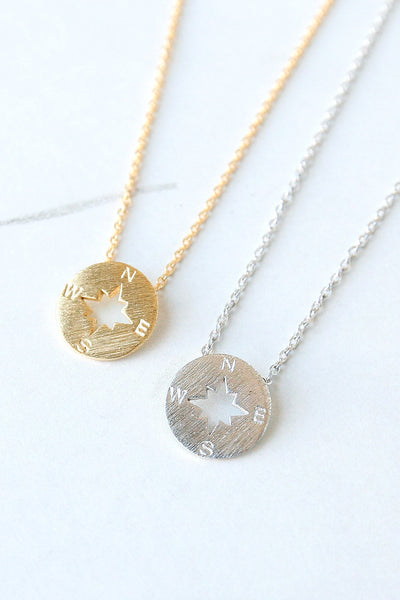 Navigate Compass Necklace