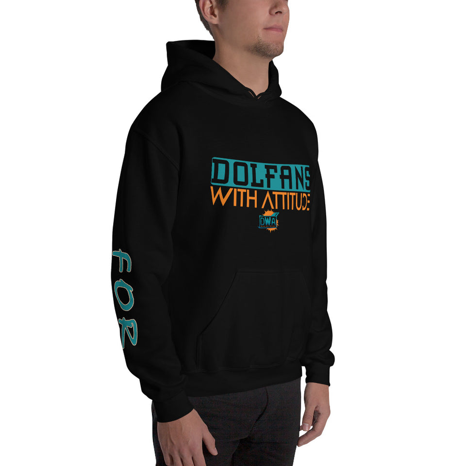 Dolfan With Attitude Hooded Sweatshirt