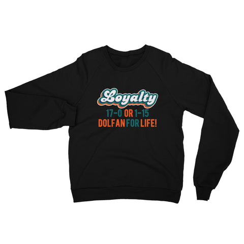 Dolfan Loyalty Unisex California Fleece Raglan Sweatshirt