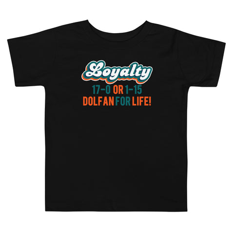 Dolfan Loyalty Toddler Short Sleeve Tee