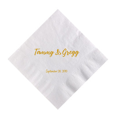 Wedding Cocktail Napkins.Happily Ever After Wedding Cocktail Napkin Napkins Ink