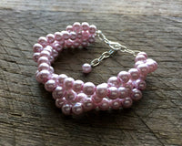 3mm Three Strand Braided Pearl Bracelet