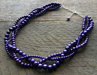 Copy of Three Strand Braided Pearl Necklace