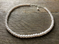 One Strand 6mm Pearl Necklace for Children and Flower Girls - Multicolor