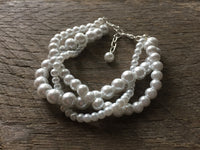Three Strand Braided Pearl Bracelet