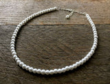 One Strand 6mm Pearl Necklace for Children and Flower Girls - Classic Neutral Colors