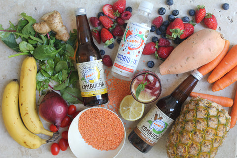 Nexba Kombucha and Probiotix Water