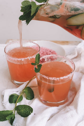 Watermelon mocktails